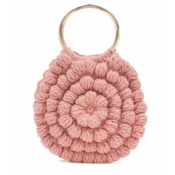 New Trend Pink Crochet Bags For Sale