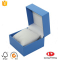 square plastic watch box with velvet pillow
