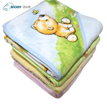 Non-toxic Warm New Design Terry kid Blanket
