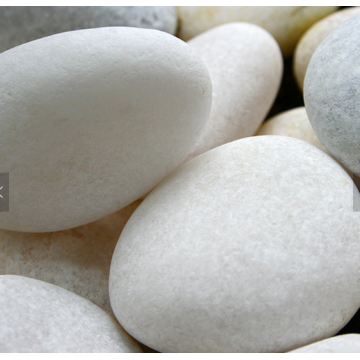 Decorative Snow white Round Pebble Stone