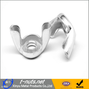 Galvanized steel stamped wing nuts