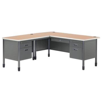 Metal L Shaped Office Desk