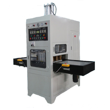 High frequency welding machine for embossing