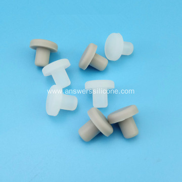 Custom moulded silicone rubber stopper screw