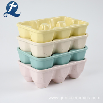 Useful Solid Speckled Color Ceramic Egg Plate