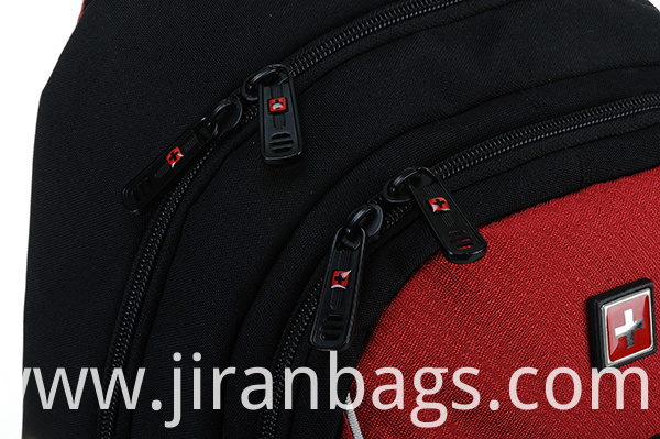 School backpack with meatal zipper