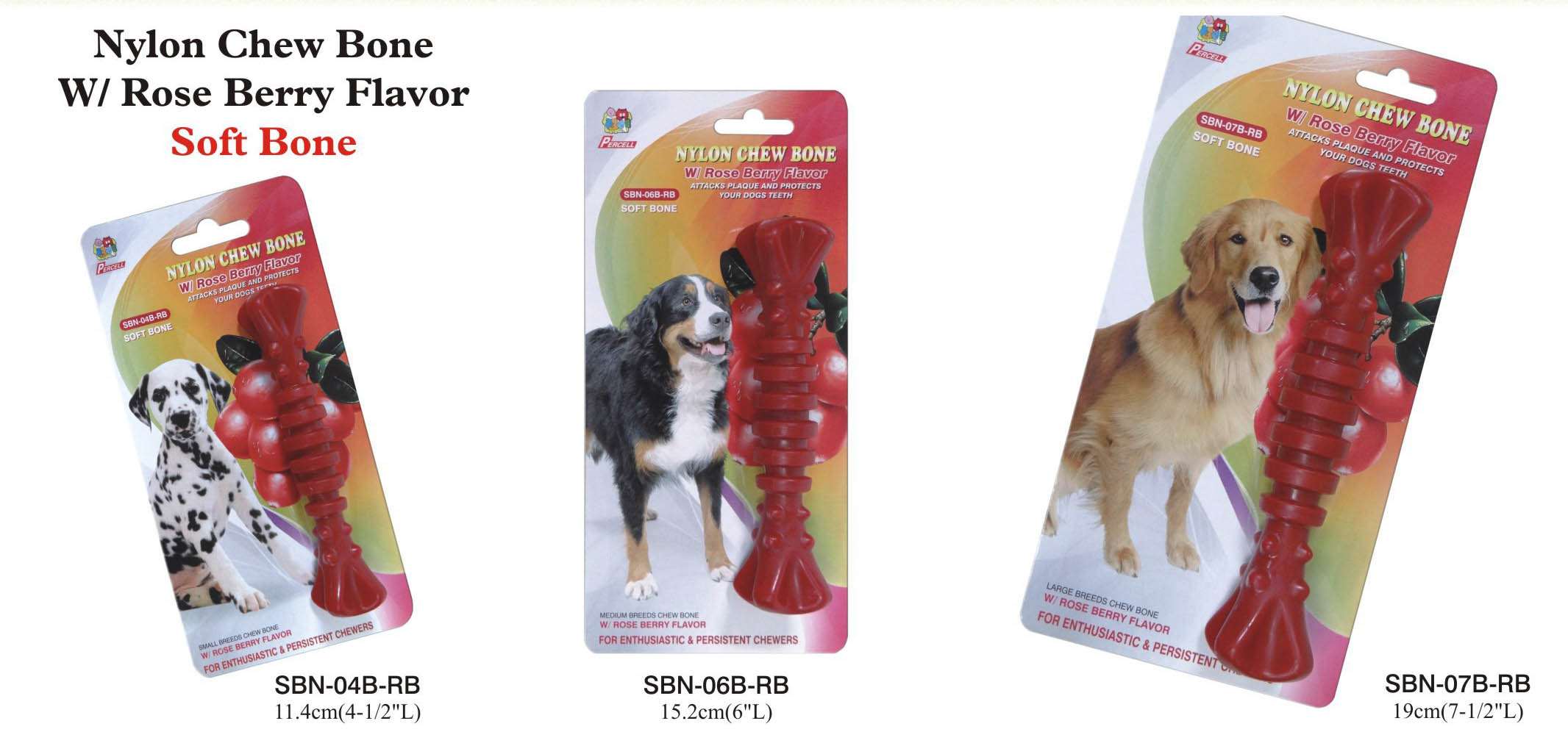 rasberry spiral dog chew - small, medium and large