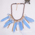 Costume Jewelry With Feather Chain Tassel Pendant Necklace