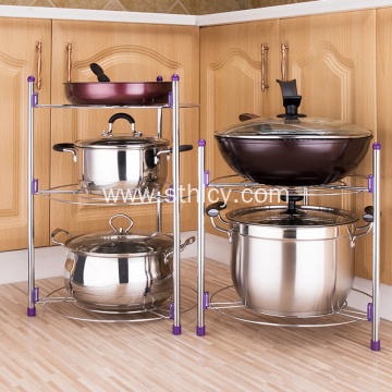 Metal Stainless Steel Kitchen Pot Stand Rack