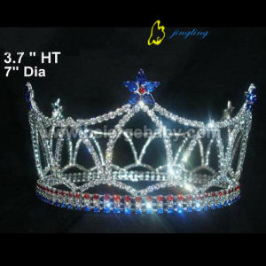 Full round star custom patriotic crowns