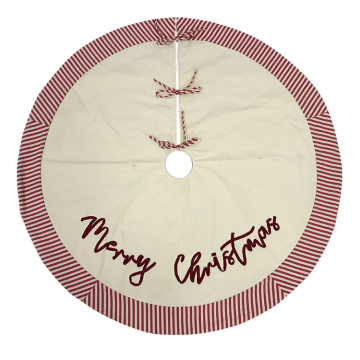 Embroidery  red streak tree skirt Christmas decoration