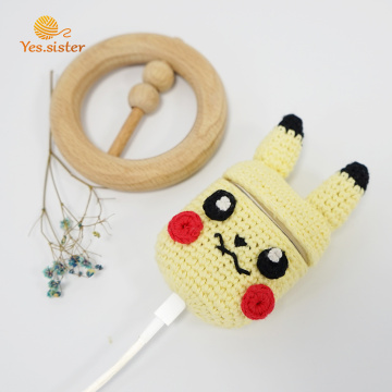Crochet Pikachu Earphone Airpods Protective Cases