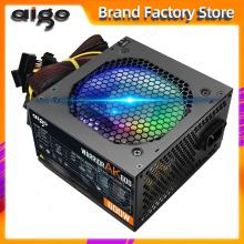 Aigo AK600 Max 600W Power Supply PSU PFC Silent Fan ATX 24pin 12V PC Computer SATA Gaming PC Power Supply For Intel AMD Computer