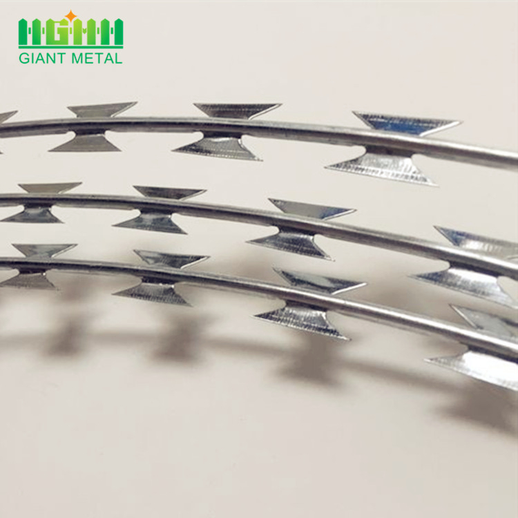 Hot sale security fencing galvanized razor barbed wire