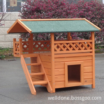 Indoor and outdoor Wooden Cat House with cover