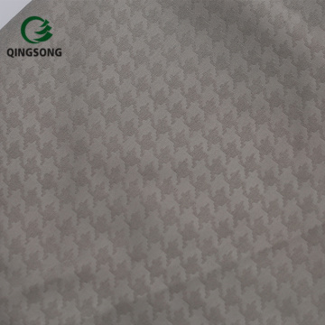 Home Textile Solid Color Polyester White Embossed Fabric