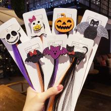 New Girls Cute Halloween Gifts Cartoon Ghost Hairpins Funny Headband Colorful Hair Ornament Clips Kids Fashion Hair Accessories