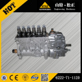 komatsu injection pump 6152-72-1261 for PC400-6