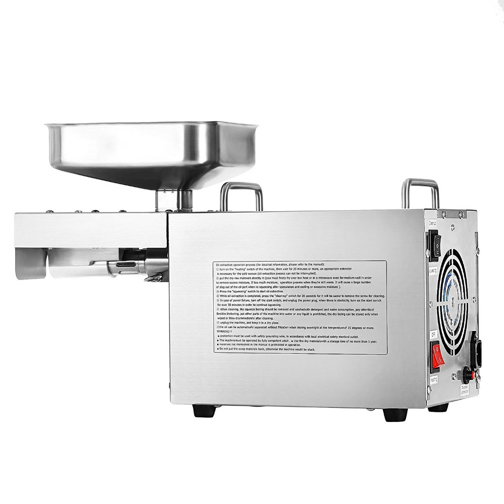 Automatic Industrial Oil Press Machine Household 220V/110V Peanut Soybean Oil Pressure High Extraction Rate