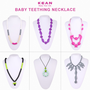 BPA silicone baby teething necklace