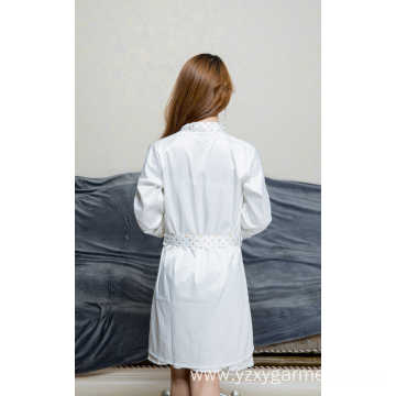 White satin short robe and nightdress