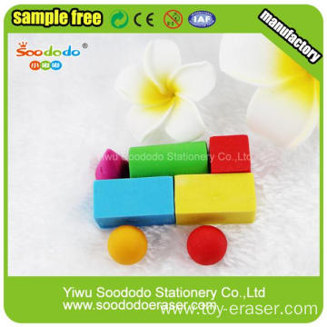 Car Children Building Block Toy Eraser