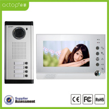 7 inch 4 Apartment Video Door Phone