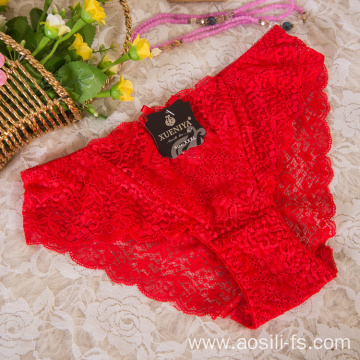 wholesale China new style panty red sexy female lace elastic fancy underwear A638
