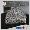 Hand Made Bubble Pattern Crystal Glass Napkin Holder