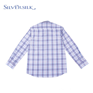 Hot wholesale plaid long sleeve teenager boys shirts
