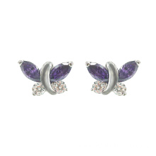 925 Silver Butterfly Stud Earrings for Women
