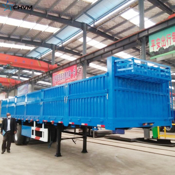 Sidewall Cargo Low Flatbed Semi Trailer