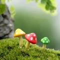 3 pcs Artificial Mushroom Miniature Fairy Garden Home Houses Decoration Mini Craft Micro Landscaping Decor DIY Accessories