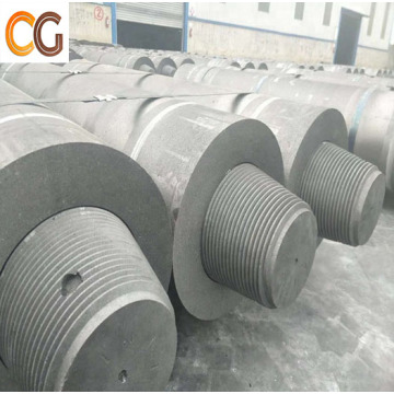 For steel refining furnace with graphite nipple