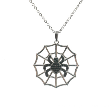 Fashion Black Pave CZ Spider Pendant