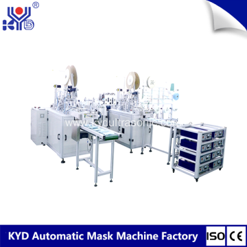 Automatic medical face mask making machinery