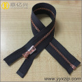 60cm high quality light gold brass metal zipper