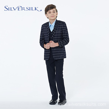 Custom Brand Plaid Casual Classic Boys Suits Blazers