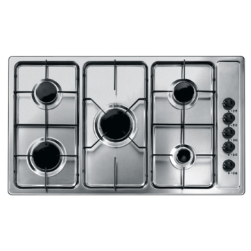 Indesit Gas Hob 5 Burner Stainless Steel