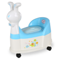 Rabbit Shape Plastic Baby Potty Chair With Wheel&Music