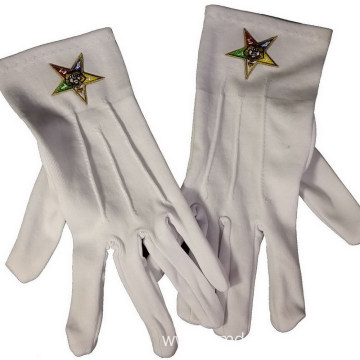 Custom Embroidered Formal Gloves With Masonic LOGO