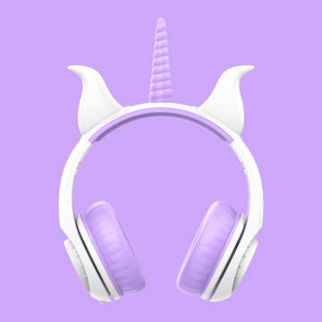 Mais novo LED Headphone Unicorn Glowing Headphones