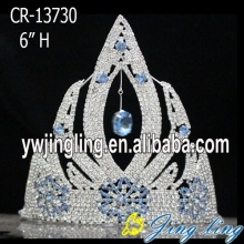 "6"" Light Blue Rhinestone Frozen Crown Tiara"