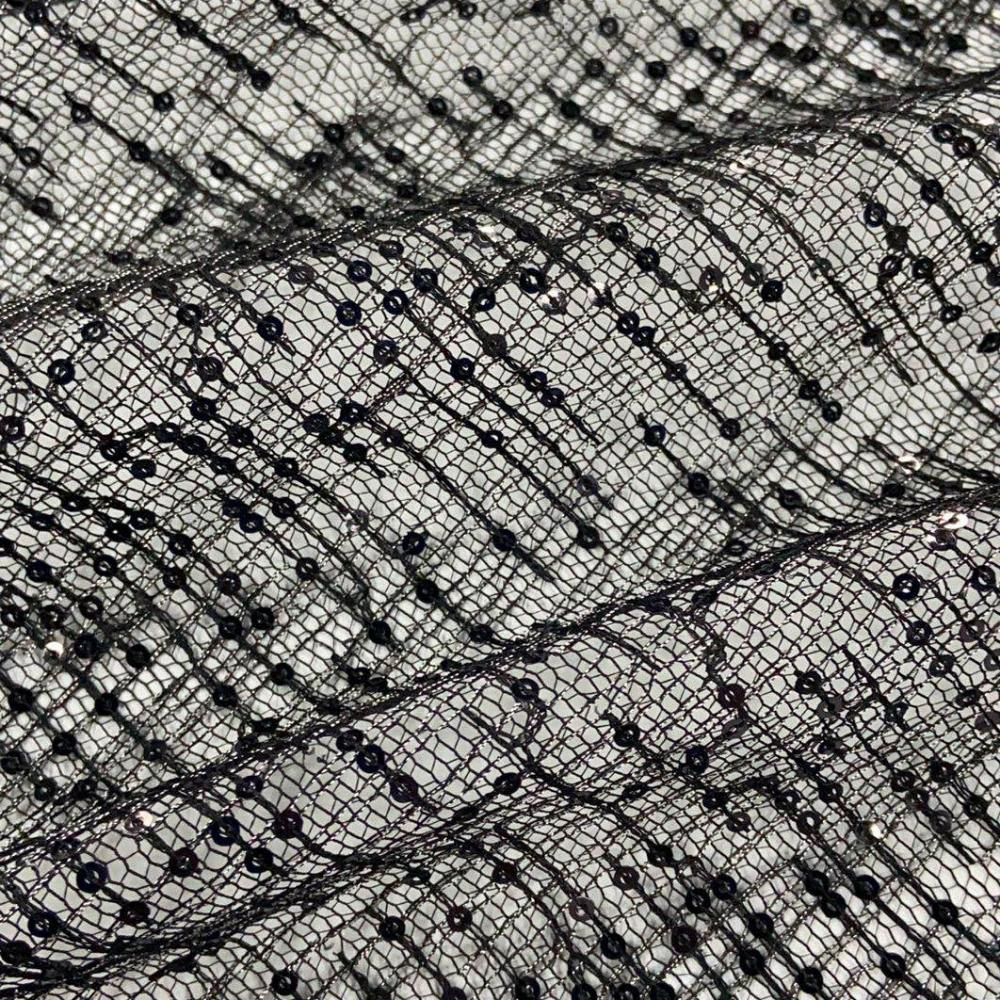 Sequins Embroidery Fabric 3