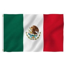 double stitched vivid color custom mexico flag