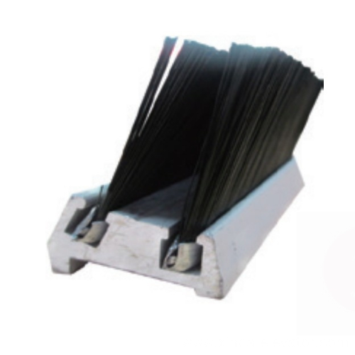 BS-3 double row Skirt Brush with aluminum pedestal for escalator and moving walk escalator spare part