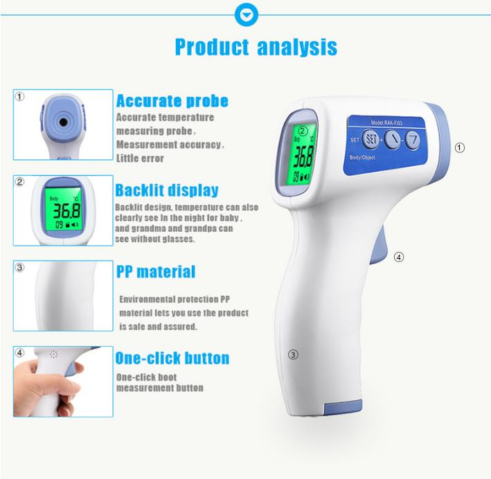 Wholesale Infrared Thermometer Surgical Temperature Gun Medical Hospital Factory