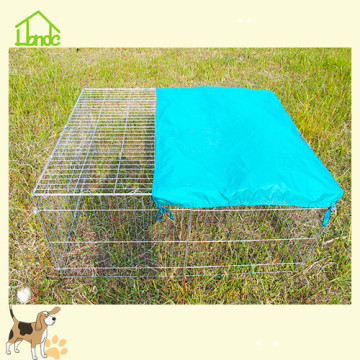 Easy-to-use barbed wire rabbit cage