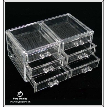 Wholesale Square Clear Acrylic Boxes With Drawer