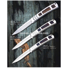 Portable Cupronickel and Pakka Wood Handle Pocket Knives